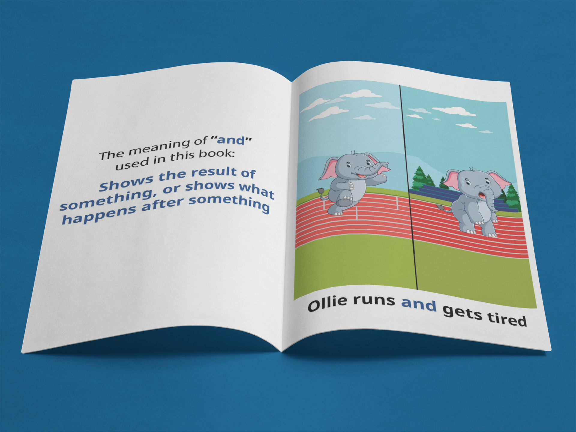 Ollie runs and gets tired booklet